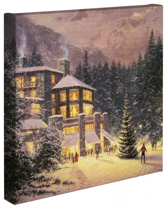 Christmas at the Ahwahnee – 20″ x 20″ Gallery Wrapped Canvas