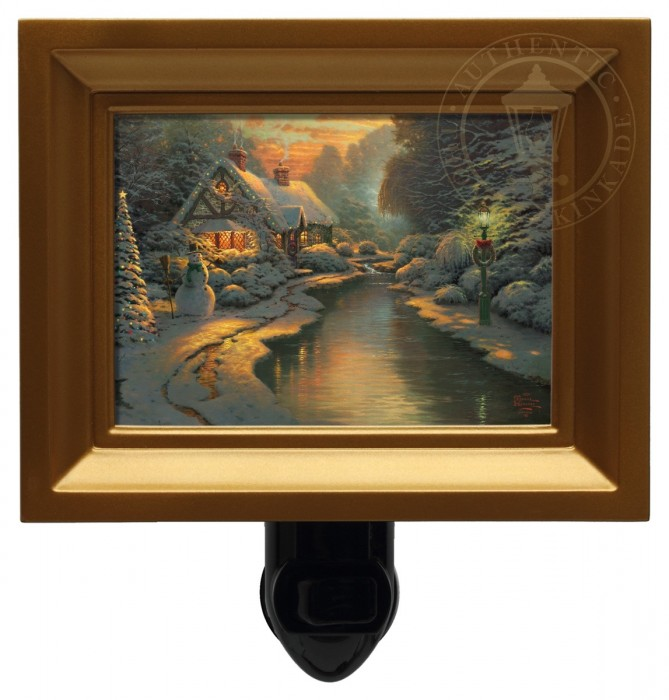 Christmas Evening – Nightlight (Black Frame)