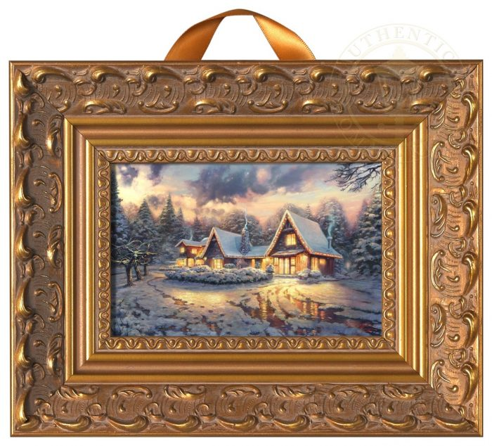 Christmas Lodge – Miniature Framed Print