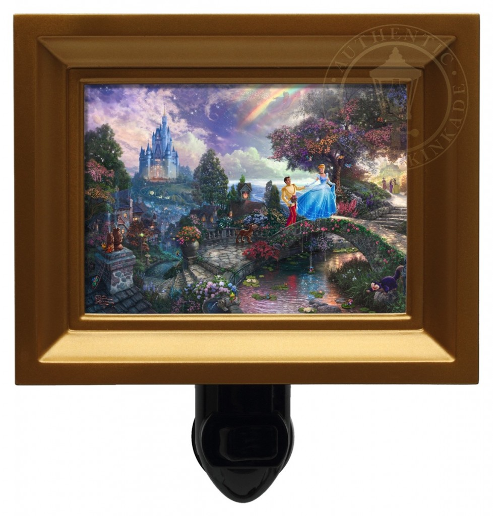 Cinderella Wishes Upon a Dream – Nightlight (Gold Frame)