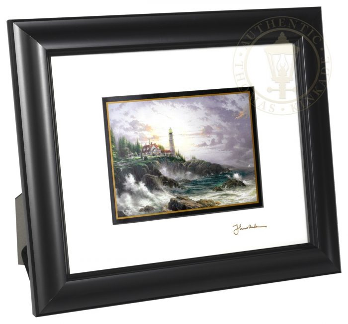 """Clearing Storms – 8"""" x 10"""" Framed Matted Print (Satin Black Frame)"""