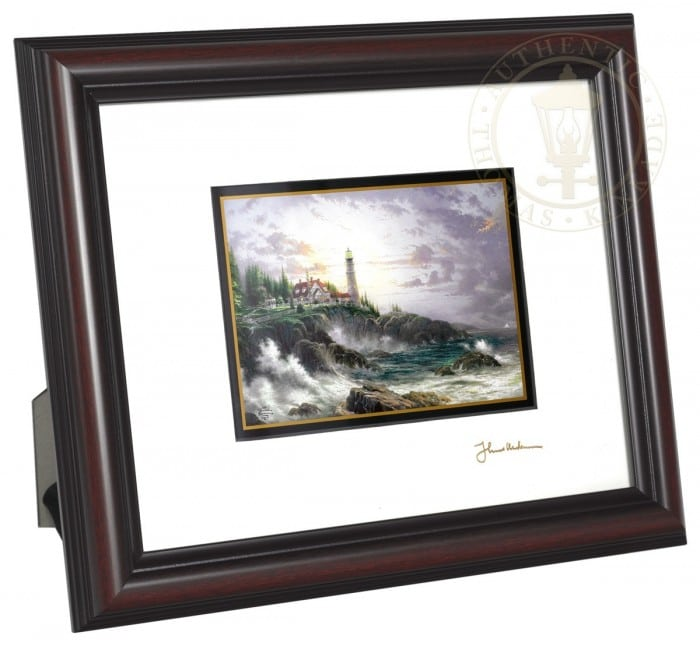 Clearing Storms – 8″ x 10″ Framed Matted Print (Burnished Cherry Frame)