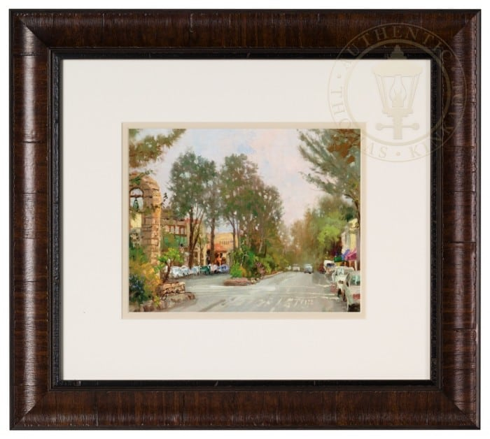 Carmel, Ocean Ave II – Framed Matted Print Hand Signed by Thomas Kinkade