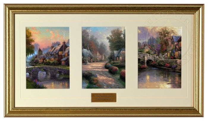 Cobblestone Collection – Framed Matted Prints (Gold Frame)