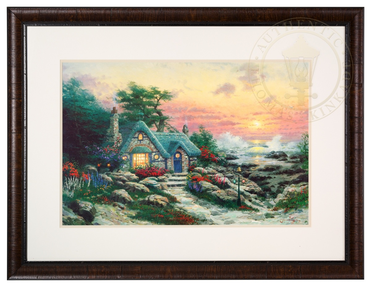 Cottage By The Sea Framed Matted Print Hand Signed By
