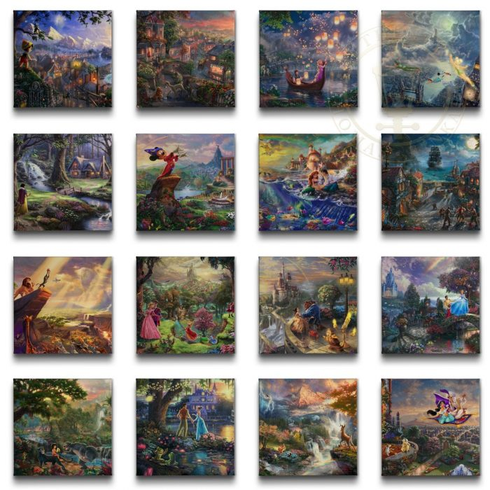 Disney Ultimate Collection 2014 (Set of 16 Wraps) – 14″ x 14″ Gallery Wrapped Canvas