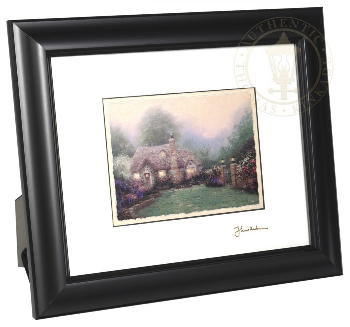 Evening at Merritt's Cottage – 8″ x 10″ Framed Matted Print (Satin Black Frame)