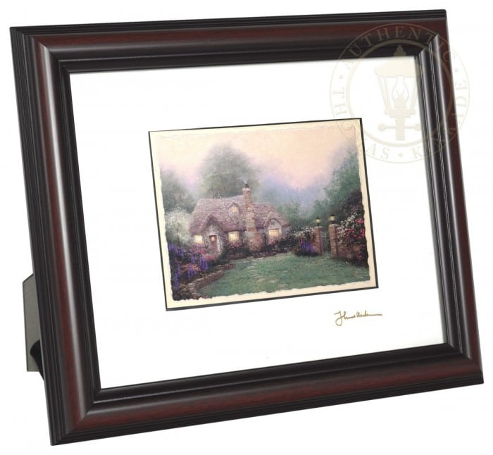 Evening at Merritt's Cottage – 8″ x 10″ Framed Matted Print (Burnished Cherry Frame)