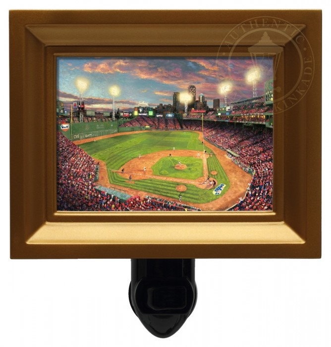 Fenway Park – Nightlight (Gold Frame)