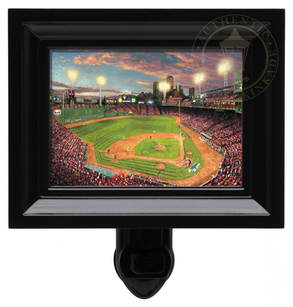Fenway Park – Nightlight (Black Frame)