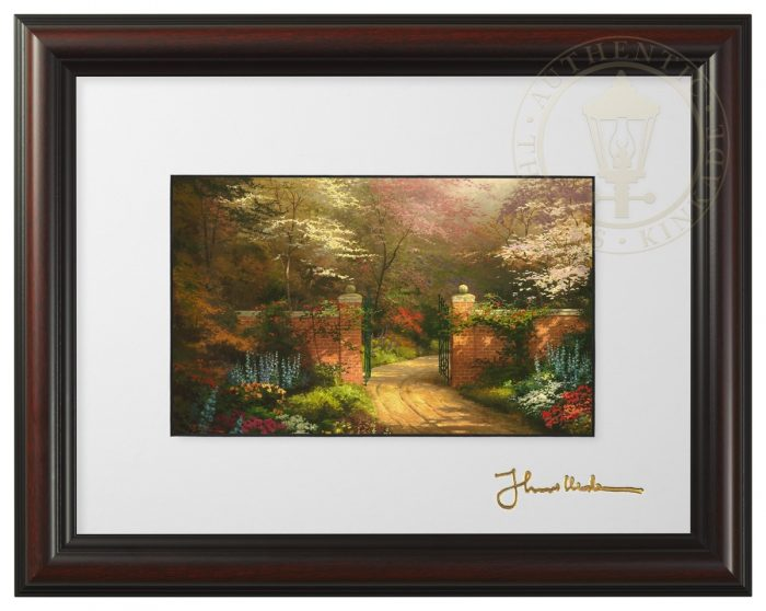 Gate of New Beginnings – Framed Matted Print (Burnished Cherry Frame)