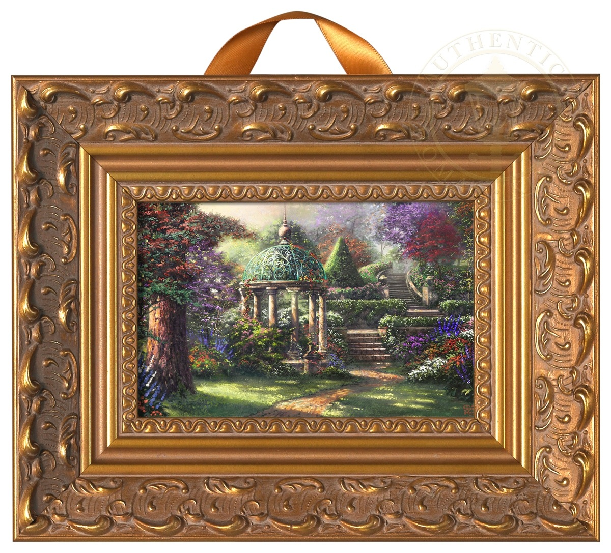 Gazebo Of Prayer Miniature Framed Print Thomas Kinkade
