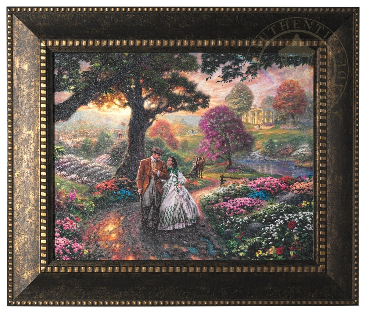 Gone With The Wind – Framed Textured Print | The Thomas Kinkade Company
