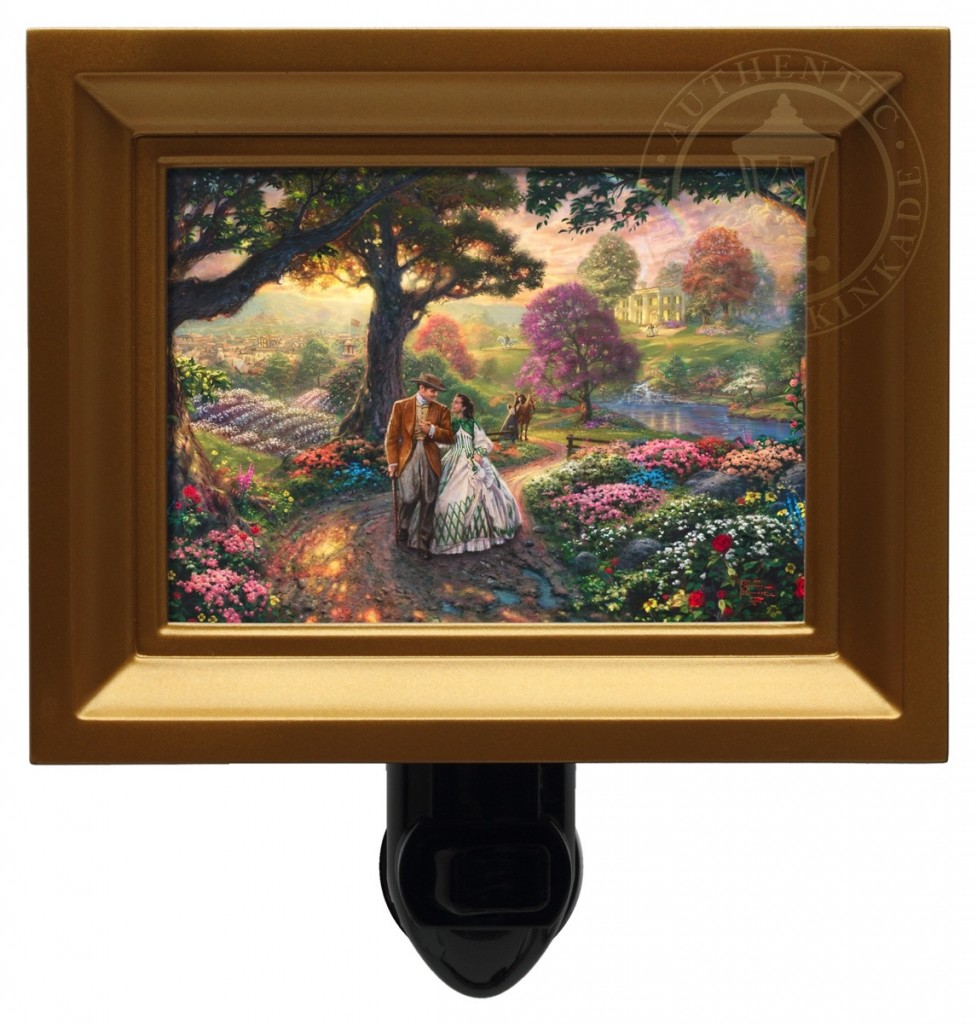 Gone With The Wind – Nightlight (Gold Frame)