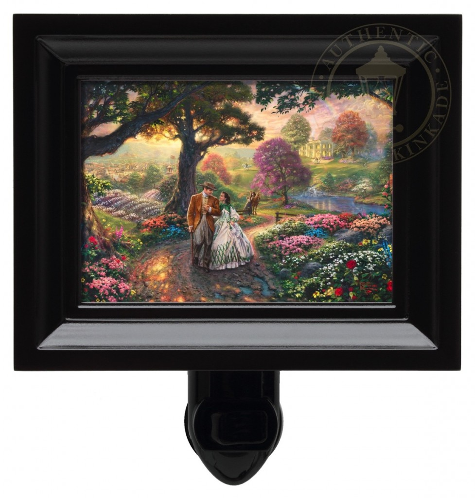 Gone With The Wind – Nightlight (Black Frame)
