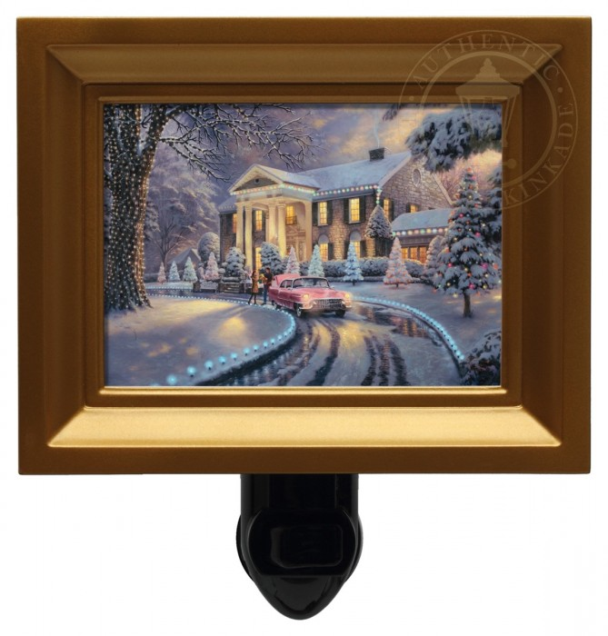 Graceland Christmas – Nightlight (Gold Frame)