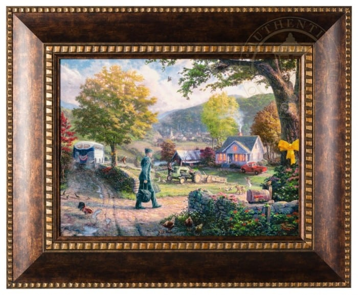 Homecoming Hero – Framed Textured Print