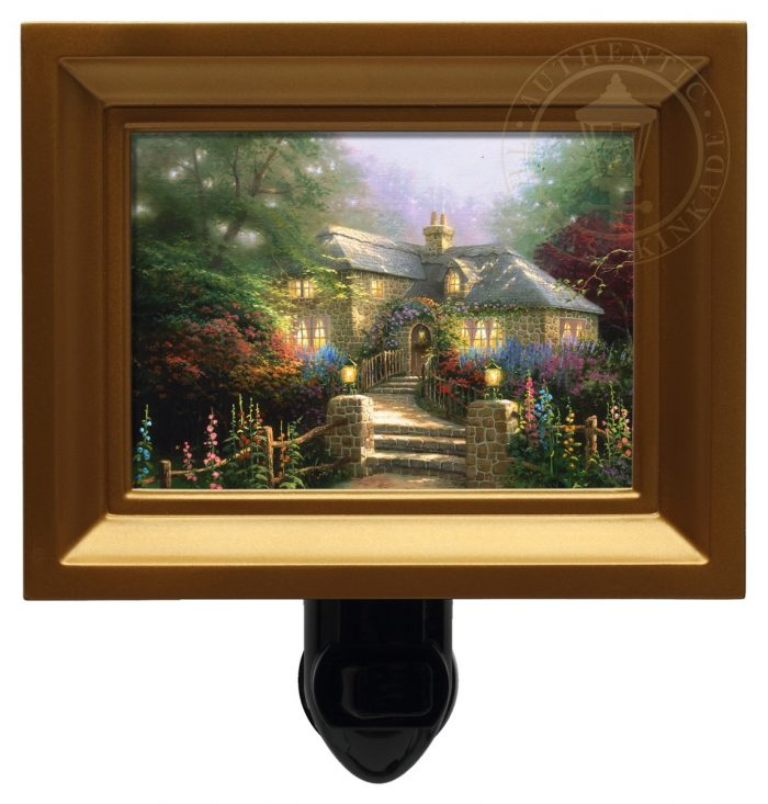 Hollyhock House – Nightlight (Gold Frame)