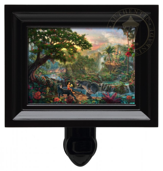 Jungle Book, The – Nightlight (Black Frame)