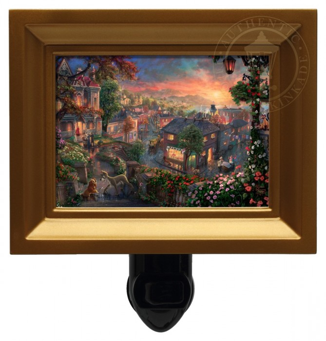 Lady and the Tramp – Nightlight (Gold Frame)