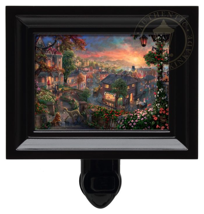 Lady and the Tramp – Nightlight (Black Frame)