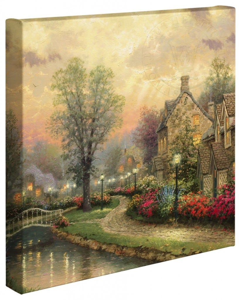 Lamplight Lane – 20″ x 20″ Gallery Wrapped Canvas