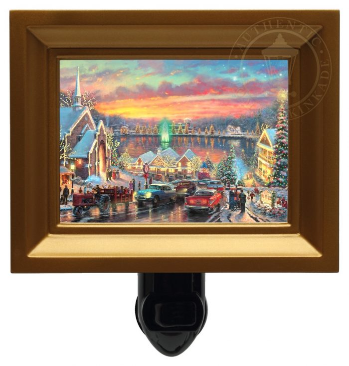 Lights of Christmastown, The – Nightlight (Gold Frame)