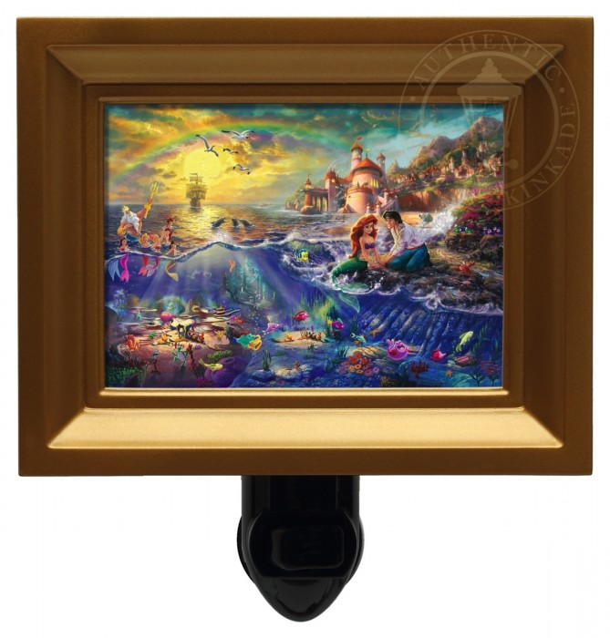 Little Mermaid, The – Nightlight (Gold Frame)