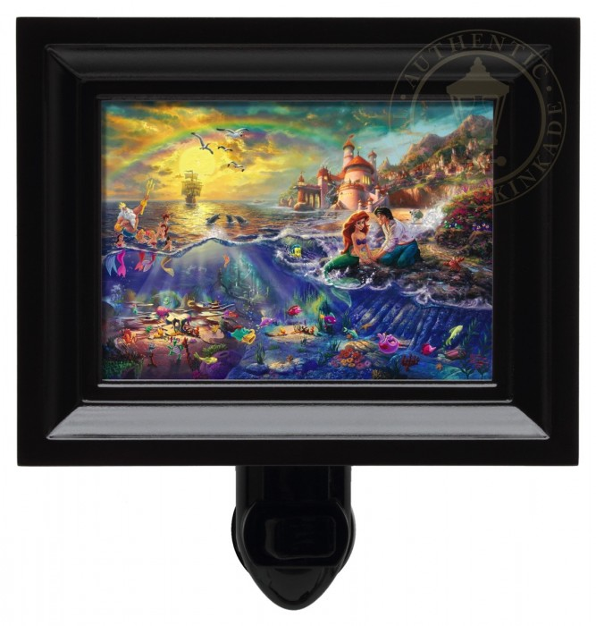 Little Mermaid, The – Nightlight (Black Frame)