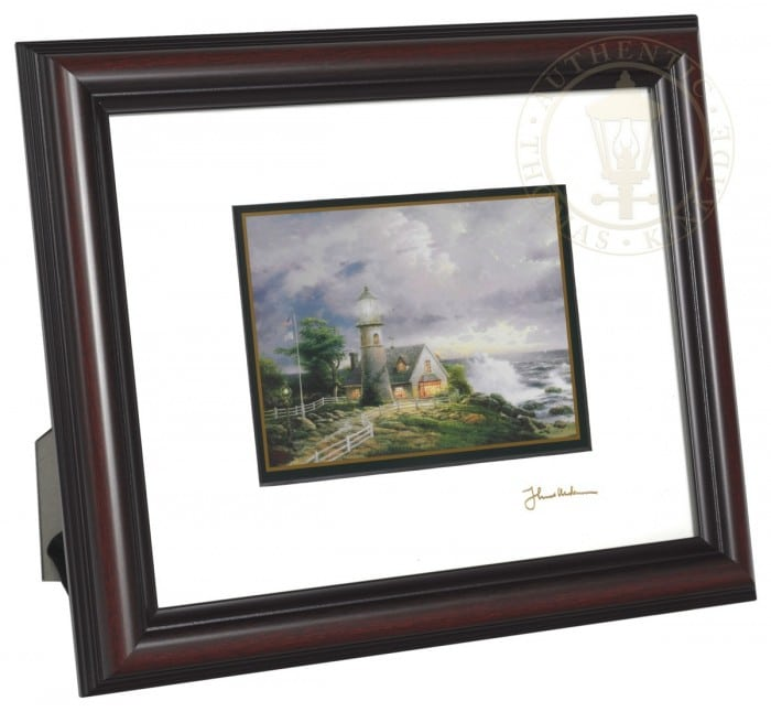 "A Light in the Storm – 8"" x 10"" Framed Matted Print (Burnished Cherry Frame)"