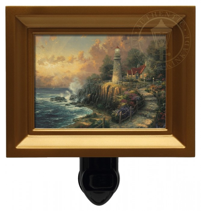 Light of Peace, The – Nightlight (Gold Frame)