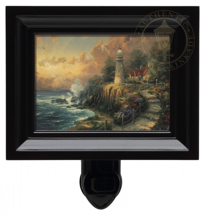 Light of Peace, The – Nightlight (Black Frame)