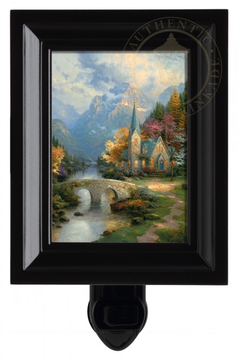 Mountain Chapel, The – Nightlight (Black Frame)