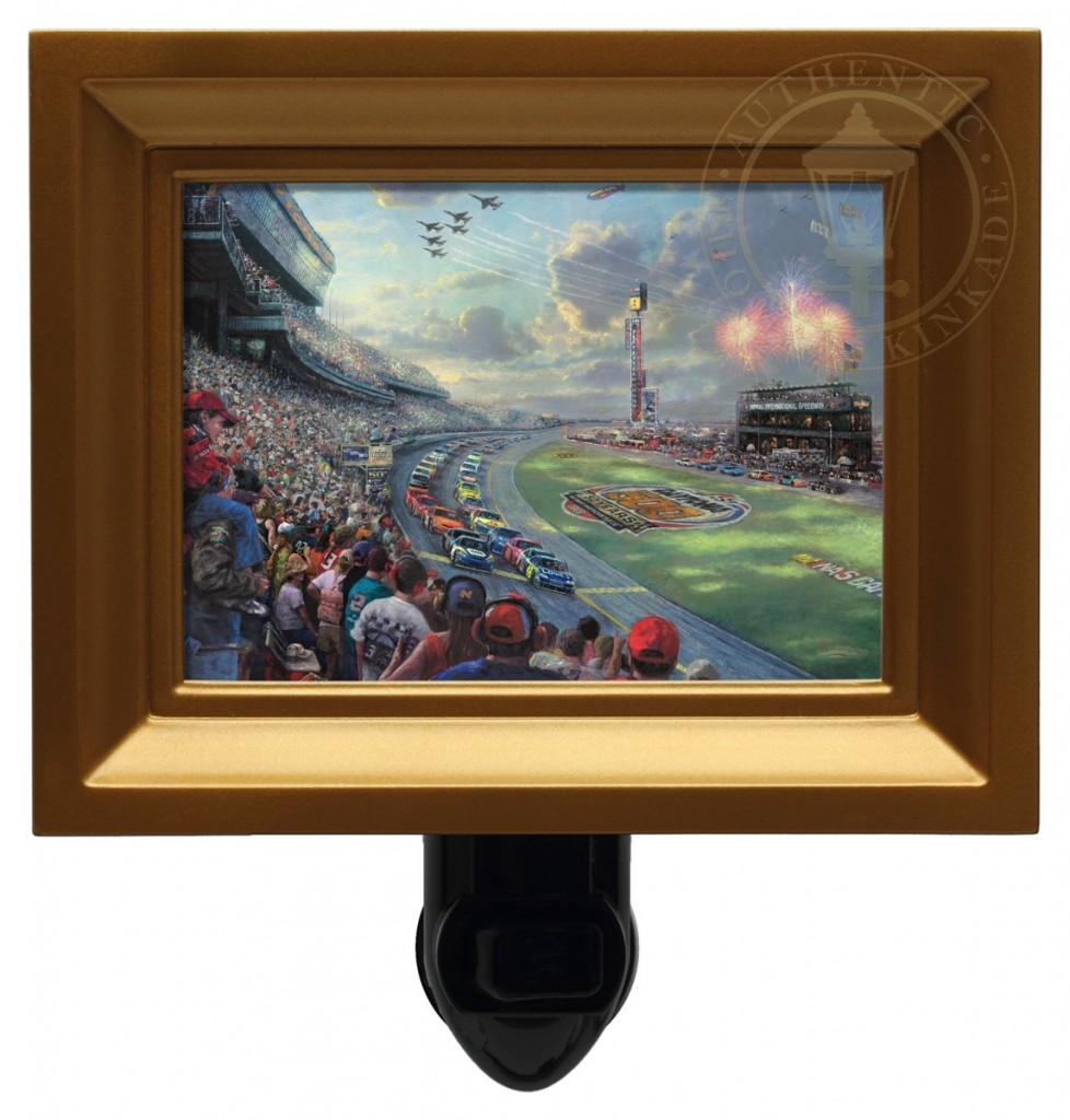 NASCAR Thunder – Nightlight (Gold Frame)