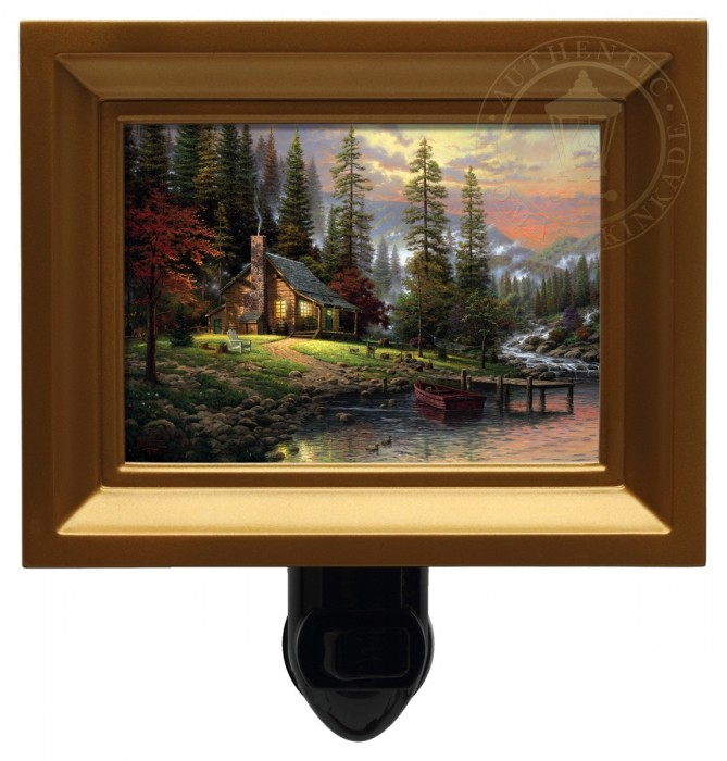 Peaceful Retreat, A – Nightlight (Gold Frame)