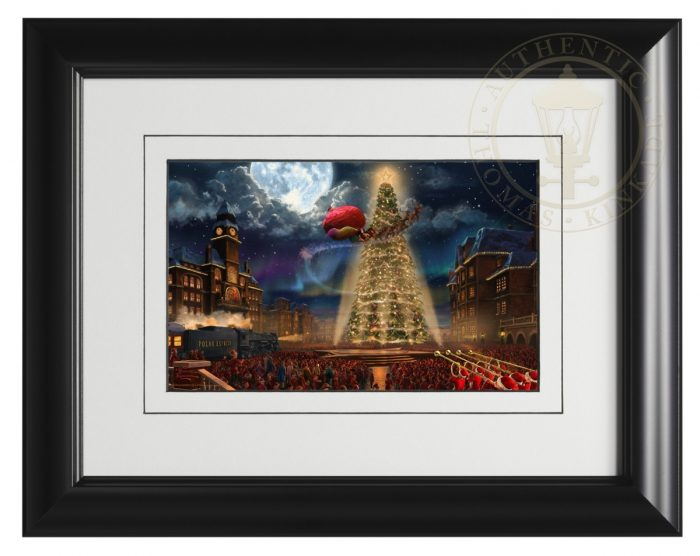 Polar Express, The – 9″ x 12″ Framed Print (Satin Black Frame)
