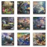 Disney Princess Collection (Set of 9 Wraps) – 14″ x 14″ Gallery Wrapped Canvas