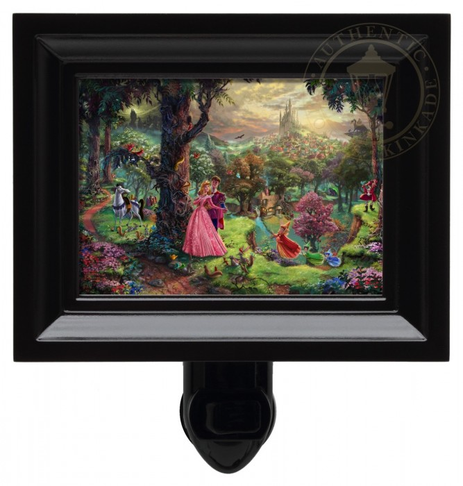 Sleeping Beauty – Nightlight (Black Frame)