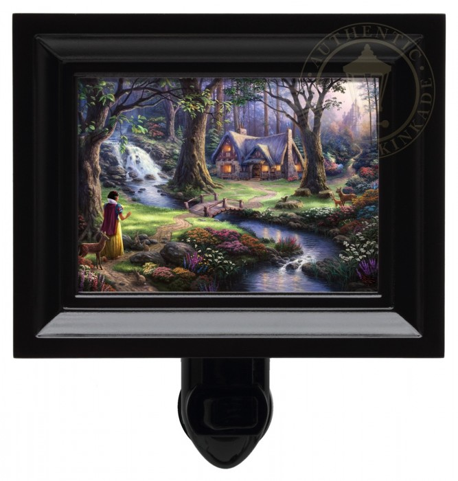 Snow White Discovers the Cottage – Nightlight (Black Frame)