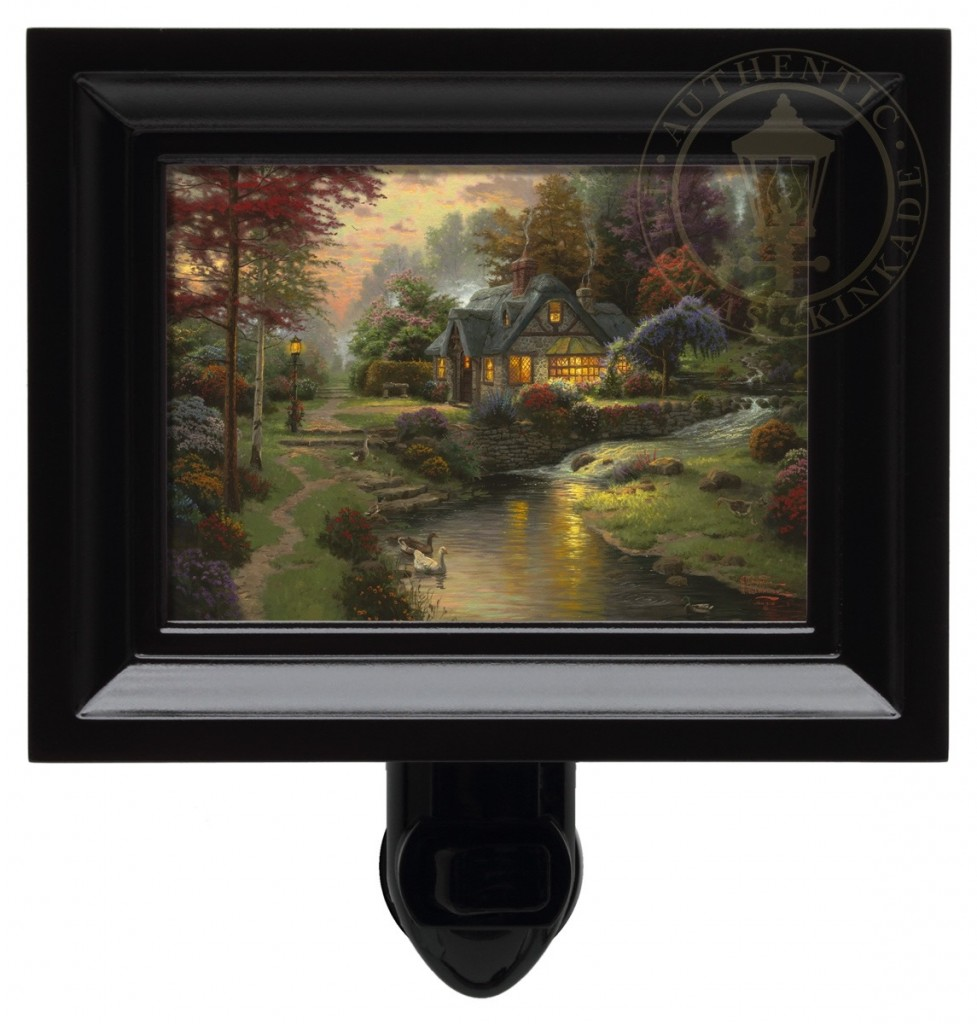 Stillwater Cottage – Nightlight (Black Frame)