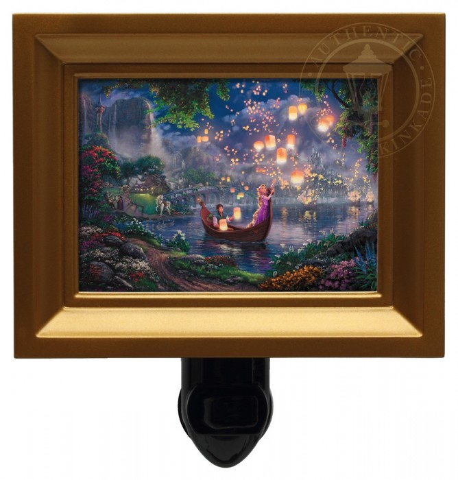 Tangled – Nightlight (Gold Frame)