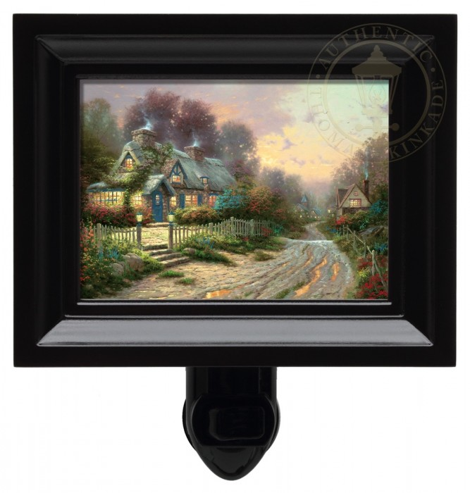 Teacup Cottage – Nightlight (Black Frame)
