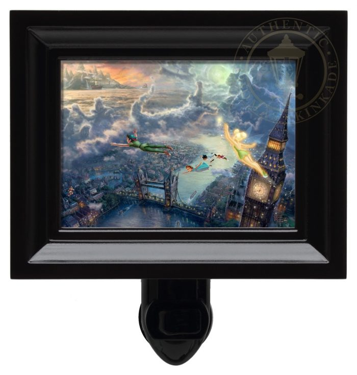 Tinker Bell and Peter Pan Fly to Neverland – Nightlight (Black Frame)