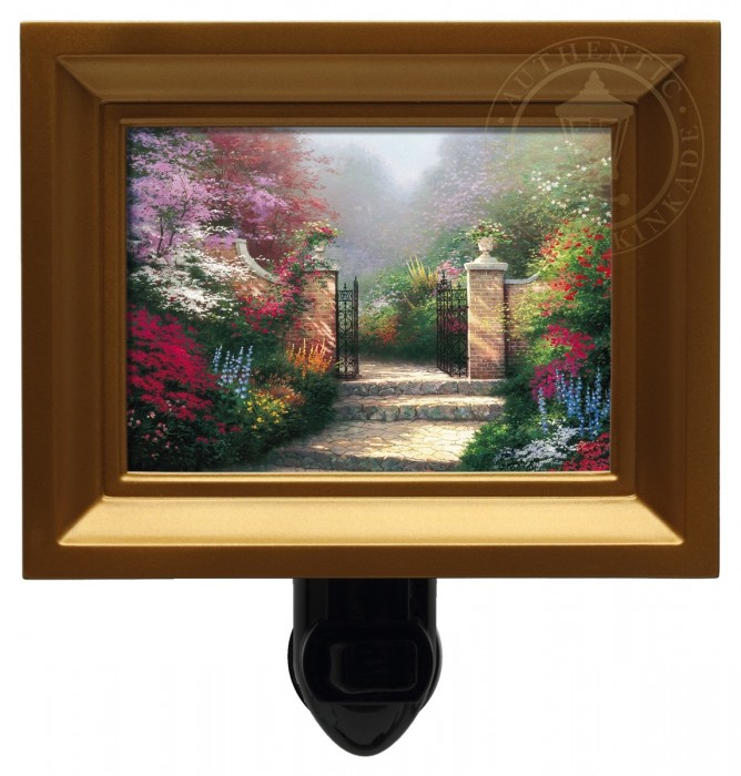 Victorian Garden, The – Nightlight (Gold Frame)
