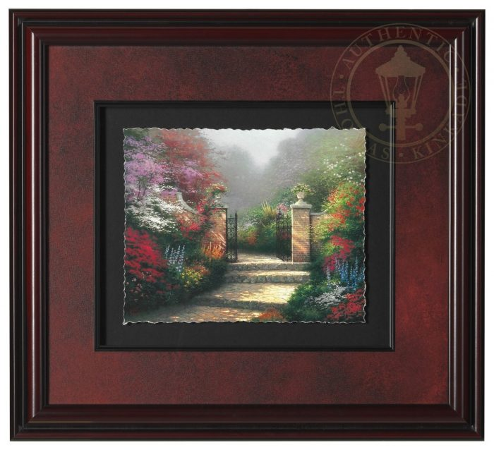 Victorian Garden The Deckled Edge Floating Print