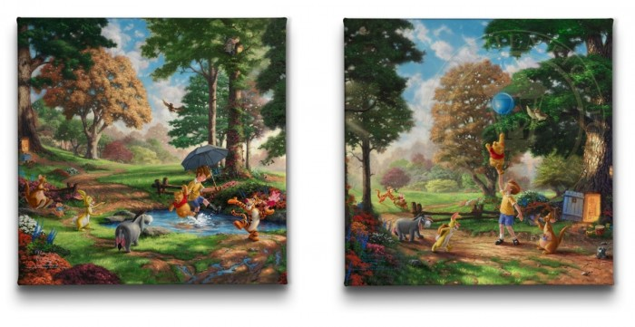 Disney Winnie the Pooh Collection (Set of 2 Wraps) – 14″ x 14″ Gallery Wrapped Canvas
