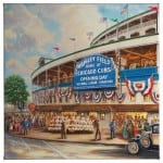 Wrigley Park: Memories and Dreams 14 x 14 Gallery Wrapped Canvas Front View