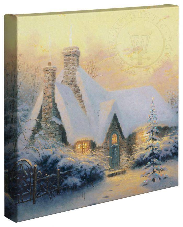 Christmas Tree Cottage – 20″ x 20″ Gallery Wrapped Canvas