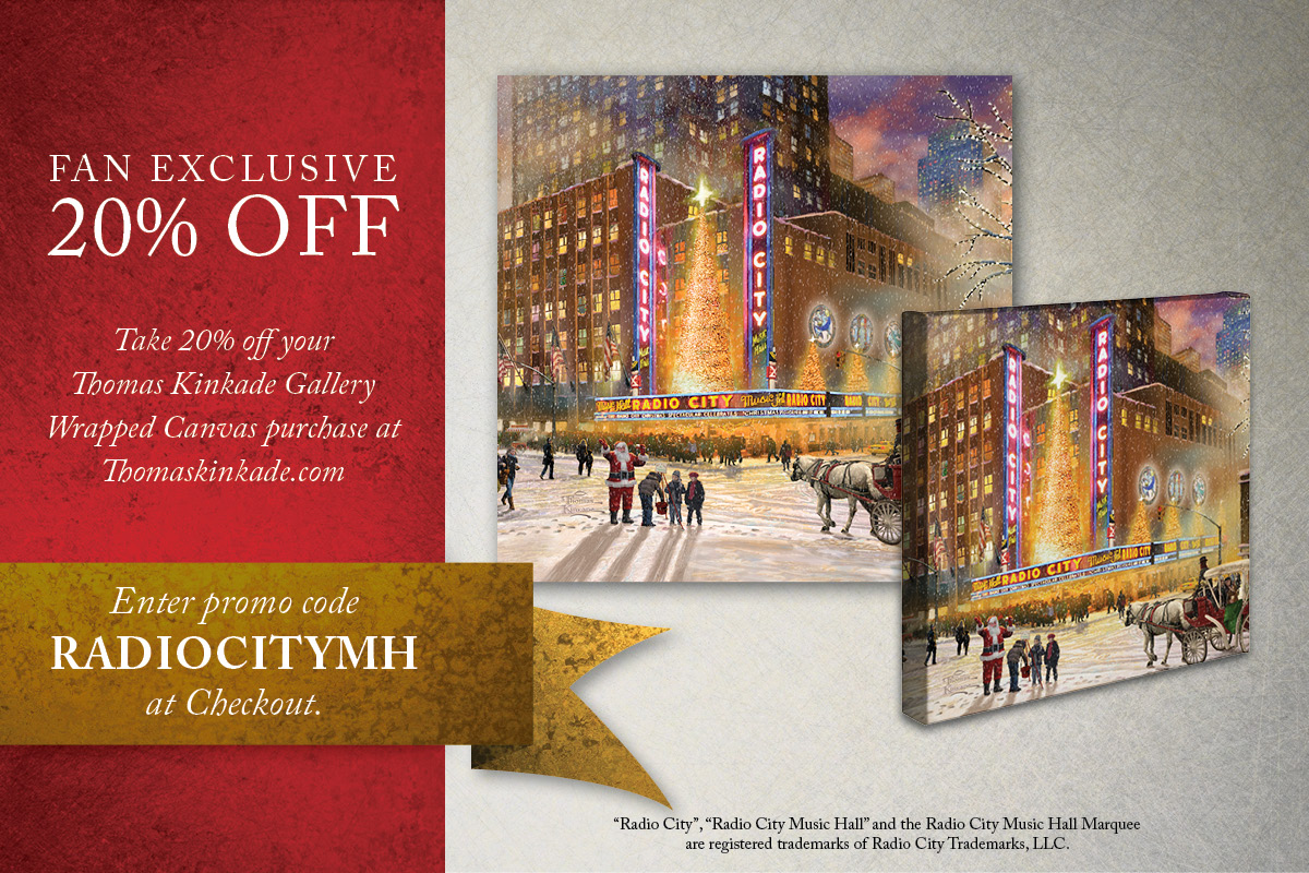 Radio City Music Hall Gallery Wrapped Canvas Offer