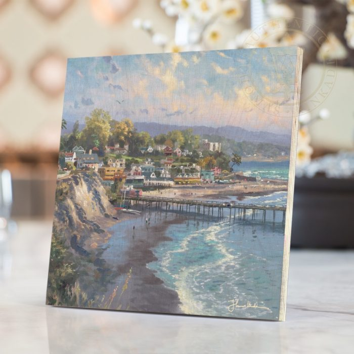 "Capitola Village – 8"" x 8"" Print on Wood"